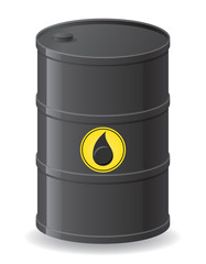 black barrel for oil vector illustration