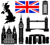 United Kingdom 7 piece vectors