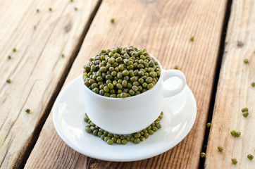 Mung beans in a bowl