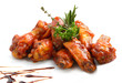 Chicken wings with barbeque sauce - 59602703