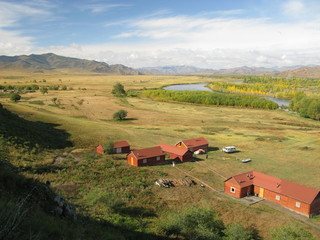 Central Mongolia landscape, Selenge river