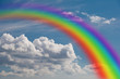 rainbow in the clouds. - 59604157