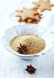 Brown sugar and star anise for christmas baking