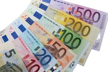 Gamme des billets euro