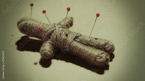 Voodoo doll dark mystical practice stock footage