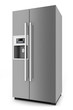 Silver fridge with side-by-side door system - 59604925