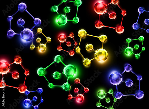 colorful molecule dna cell illustration