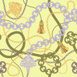 Gold Chain Seamless Vector Background. - 59605133