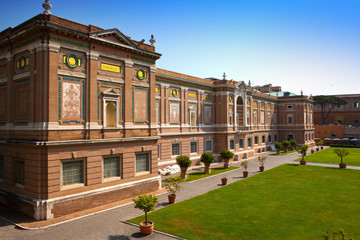 View on  Vatican Museum in Rome, Italy