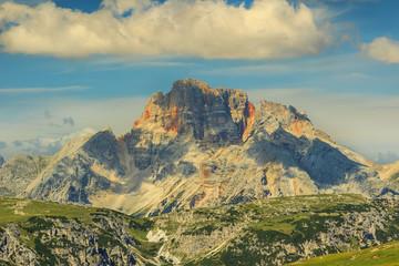 Peaks of the Croda Rossa,Dolomite Alps,Italy