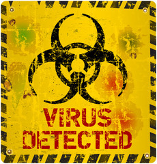 computer virus warning sign, vector, eps 10