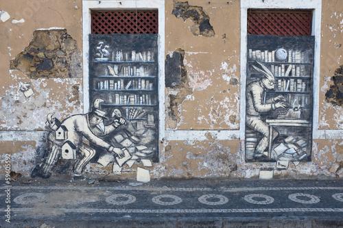 fototapeta na ścianę Street art na Azorach