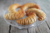 Danish pastry bread rolls filled with apple, dessert