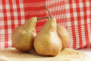 Pears in the kitchen