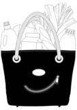 sac à provisions poster
