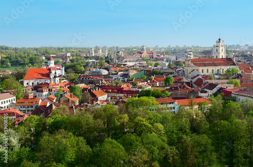 Panorama of Vilnius. Lithuania