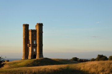 Broadway Tower at sunset