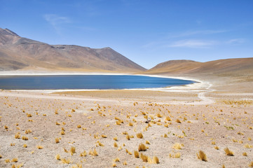 Laguna Miñiques en San Pedro de Atacama, Chile