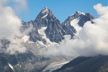 Chardonnet and Argentiere needles from Flegere