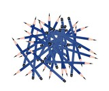 Group of Sharpened Pencils on White Background