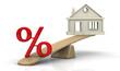 Постер, плакат: Большой процент по ипотеке Концепция