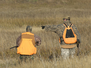 Father and Son Hunting