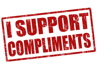 I support compliments stamp