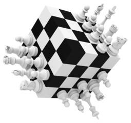 Schachspiel um die Ecke