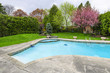 Swimming pool in backyard - 59615146