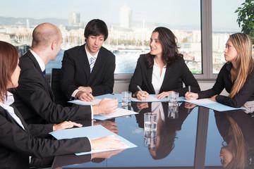 Meeting in Skyline office