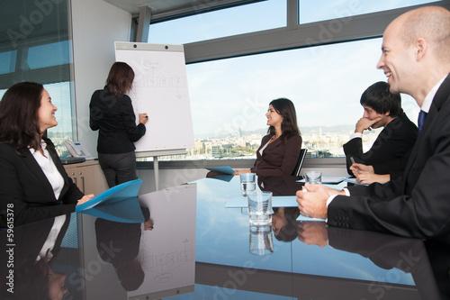 canvas print picture Mitarbeiter bei Schulung