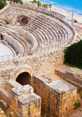 Old Roman amphitheater at Mediterranean