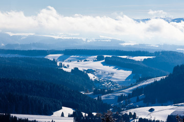 Black Forest valley town landscape Germany Europe
