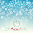 New Year snowflake retro background vector