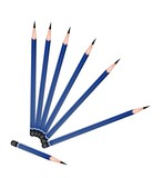 A Group of Sharpened Pencils on White Background