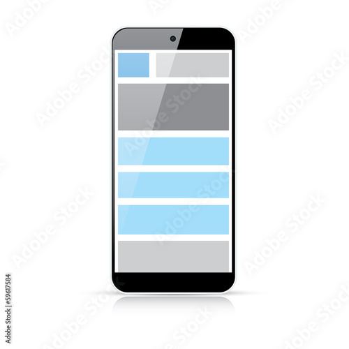 Web coding responsive html and css web design in smart phone
