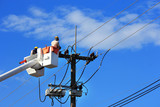 Electrician repair of  electric power system