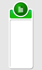 white box for any text with green notes
