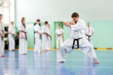 Lesson in karate school