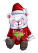 Cartoon illustration of character for Christmas, cute bear