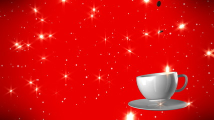 New Year,christmas,winter background and cup coffe