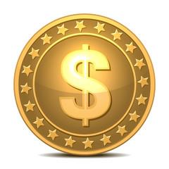 Dollars money coin
