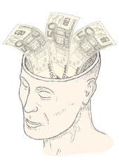 soldi in testa
