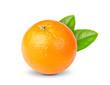 canvas print picture - ripe orange