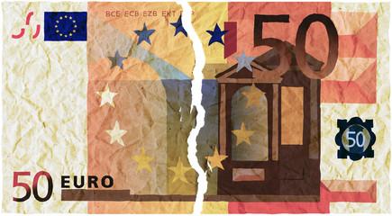 banconota strappata