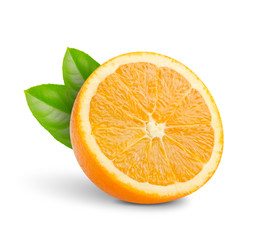 cut into half oranges