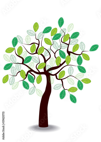 spring tree icon isolated on white background