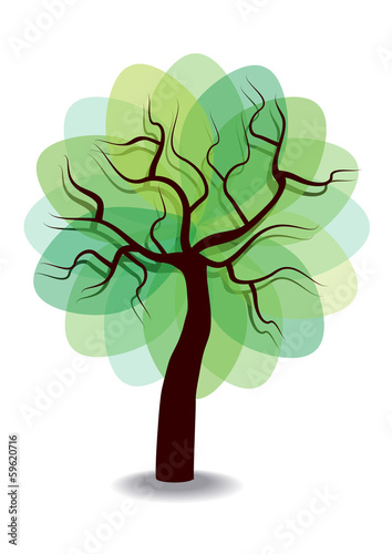 vector tree icon isolated on white background