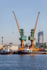 Industrial view - port of Gdynia, Poland