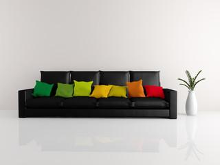 Minimalist sofa black